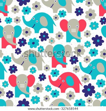 elephant seamless background