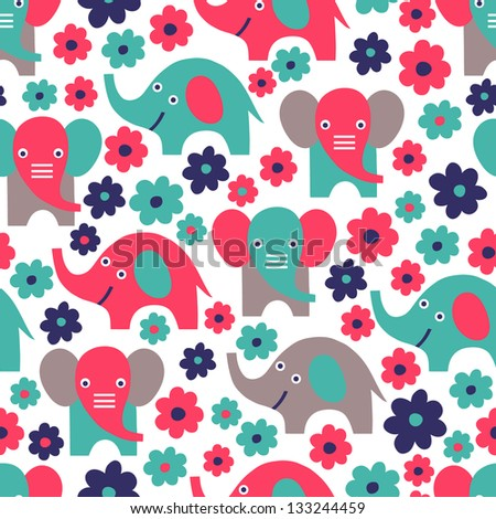 elephant seamless pattern