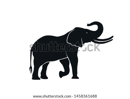 elephant silhouette side view