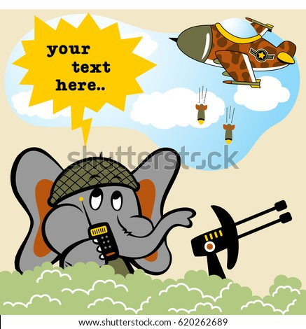 elephant soldier in battlefield