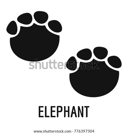 Elephant step icon. Simple illustration of elephant step vector icon for web