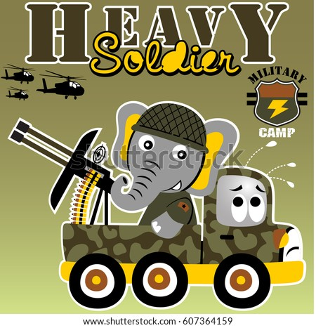elephant the heavy soldier with