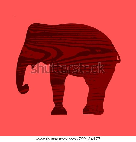 elephant the silhouette is