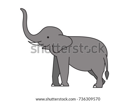 elephant vector icon logo