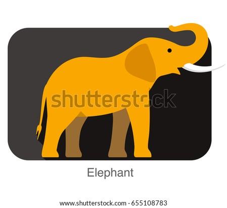 elephant walking side flat 3d