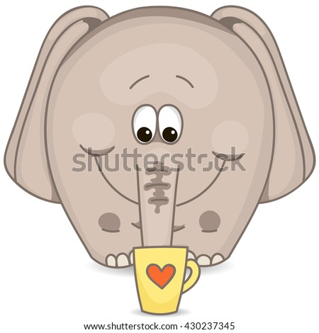 elephant with a cup