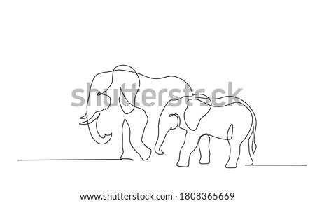elephant with baby symbol