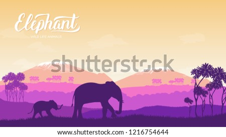 elephant with children is in