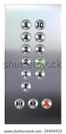 Elevator buttons panel (#1 of 4) • Find more elevator panels  in my portfolio •