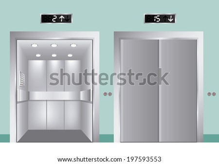 Elevator design over blue background vector illustration