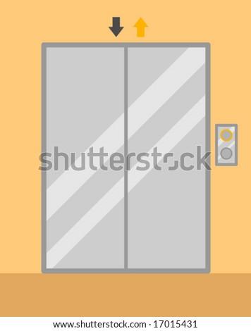 elevator doors - stock vector