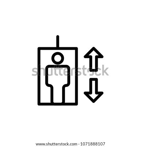 elevator icon element of