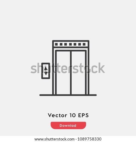 Elevator icon vector. lift up, escalator, down.up.stairs symbol. Linear style sign for mobile concept and web design. Lift, elevator symbol logo illustration. vector graphics - Vector.
