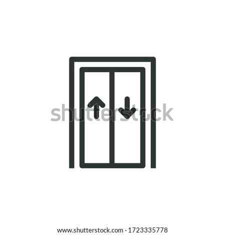 elevator line icon, vector illustration