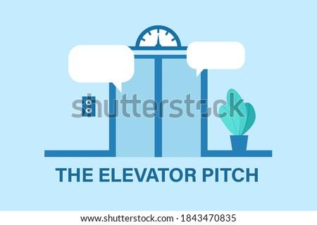 Elevator pitch design. Clipart image. Сток-фото ©