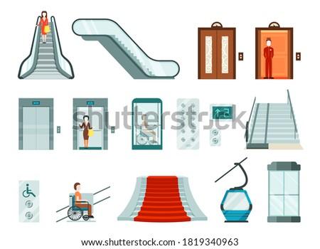 elevators and lifts set