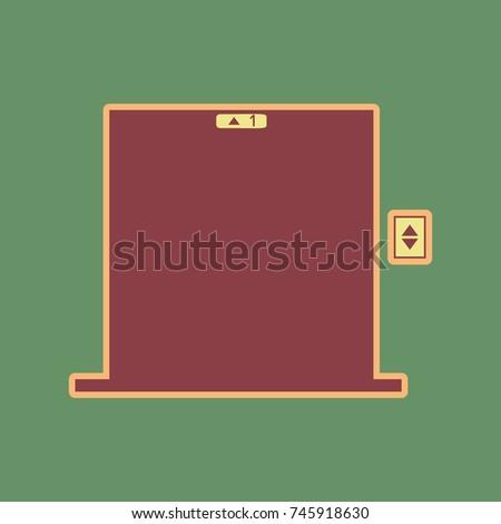 elevators door sign vector