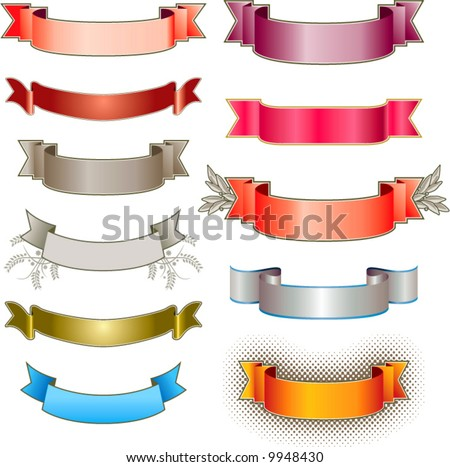 Eleven colorful vector banners