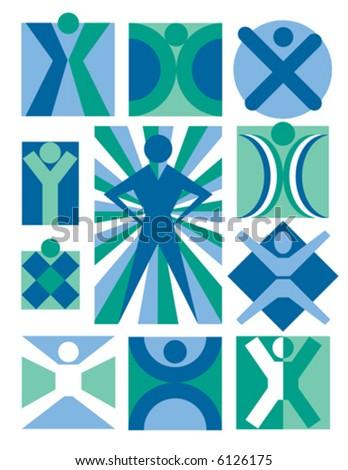 eleven symbolic illustrations