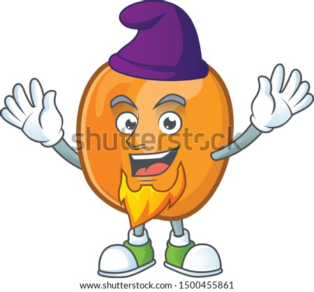 Elf apricot cartoon character for nutritious maskot