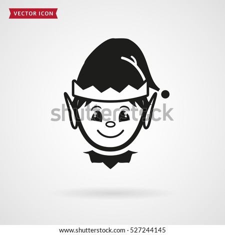 elf face icon vector symbol