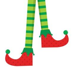 Elf feet vector clip art