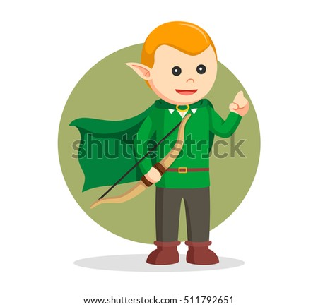 elf holding bow  illustration
