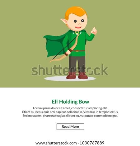 elf holding bow job information