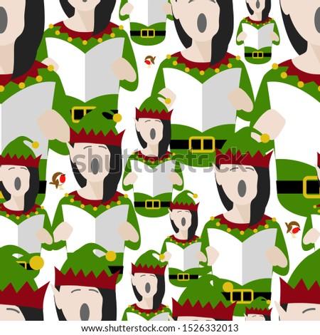 elf singing christmas carols