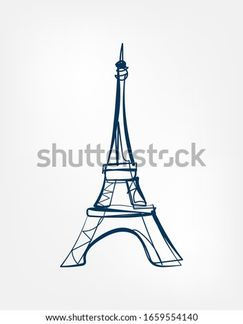 elf tower Sight vector art line isolated doodle illustration stock photo