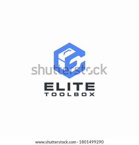 elite toolbox logo geometric monogram ストックフォト ©