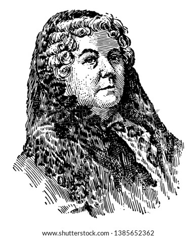 Elizabeth Cady Stanton, 1815-1902, she was an American suffragist, social activist, abolitionist, and leading figure of the early women's rights movement, vintage line drawing or engraving Zdjęcia stock ©