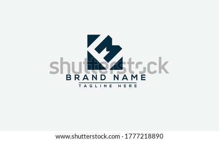 EM, ME Logo Design Template Vector Graphic Branding Element. Stok fotoğraf ©