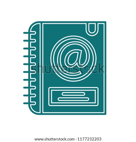 Email agenda icon vector isolated on white background for your web and mobile app design, Email agenda logo concept