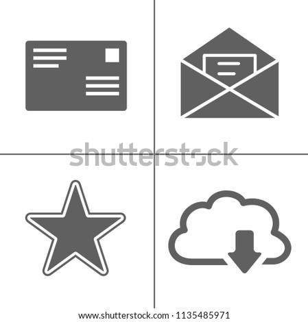 Email and message icon, envelope illustration - vector mail icon, send letter isolated