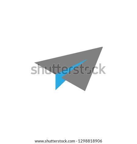Email and paper plane icon. Element of user interface icon for mobile concept and web apps. Detailed Email and paper plane icon can be used for web and mobile