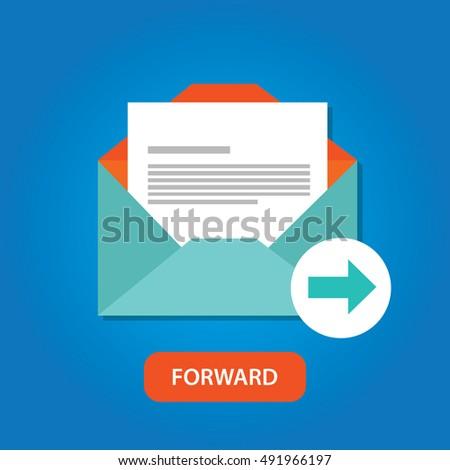 email automatic auto forward response icon button