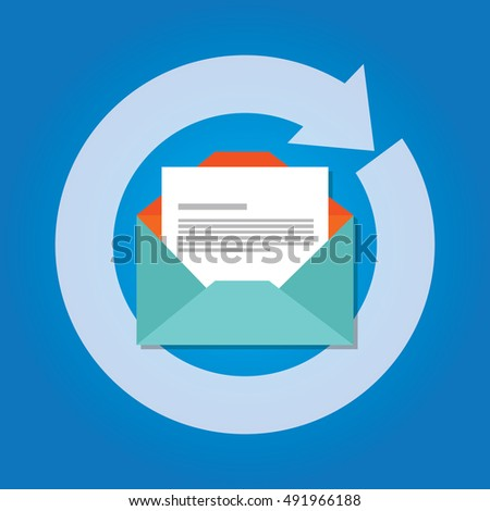 email automatic auto reply response icon send