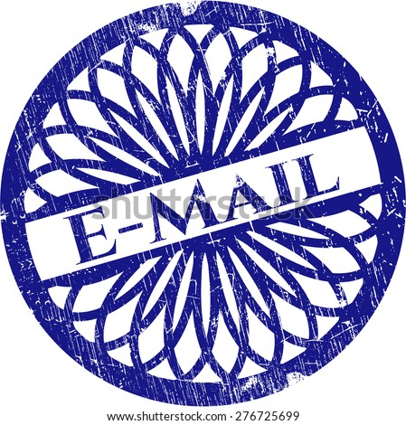 Email blue rubber stamp