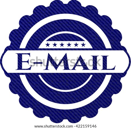 Email emblem with jean high quality background