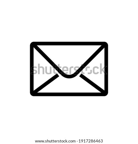Email envelope icon vector illustration Foto stock ©