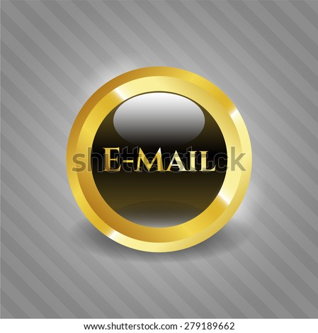 Email gold shiny badge