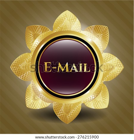 Email gold shiny flower