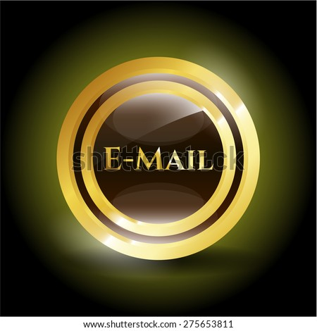 Email gold shiny medal