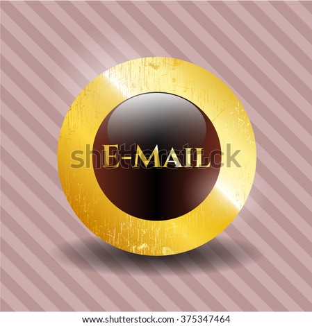 Email golden badge or emblem
