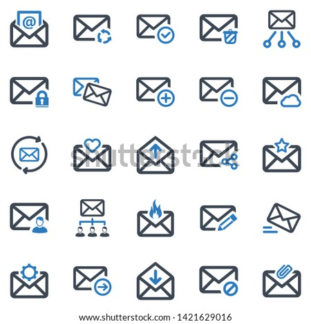 Email Icon Set (Blue Series)