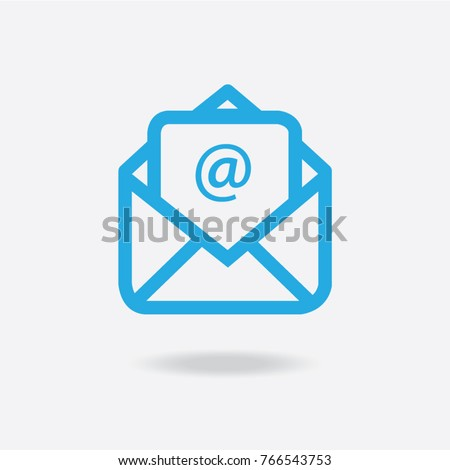 Email Icon, vector, flat design style