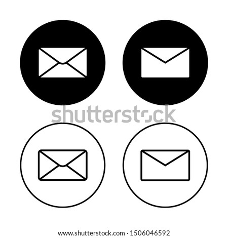 Email icon vector illustration in flat style design with 2 types of design. Isolated on white background. You can use them as website design, brochure, banner, and any other design purposes.