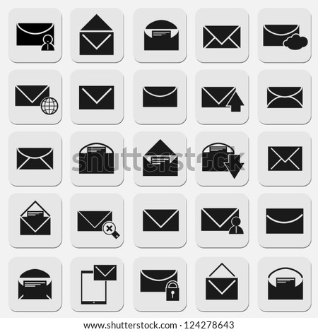 email icons set modern design