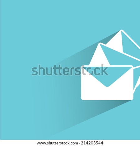 Email Letter Background email, letter, blue background